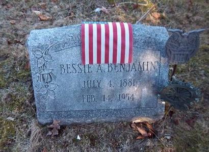 BENJAMIN, BESSIE A - Suffolk County, New York | BESSIE A BENJAMIN - New York Gravestone Photos