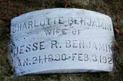 BENJAMIN, CHARLOTTE - Suffolk County, New York | CHARLOTTE BENJAMIN - New York Gravestone Photos