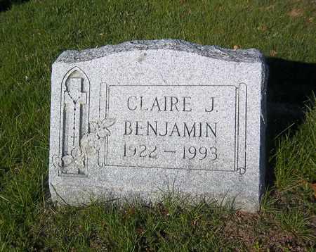 BENJAMIN, CLAIRE J - Suffolk County, New York | CLAIRE J BENJAMIN - New York Gravestone Photos
