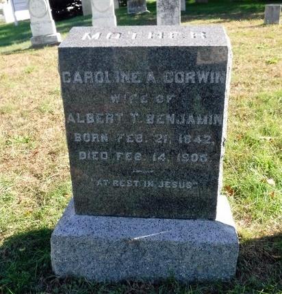 BENJAMIN, CAROLINE A - Suffolk County, New York | CAROLINE A BENJAMIN - New York Gravestone Photos