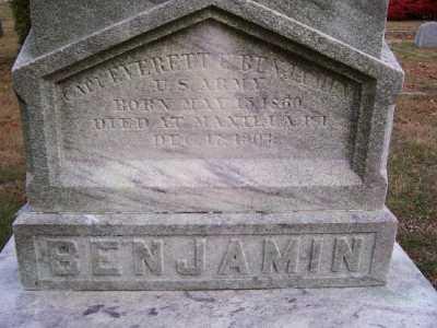 BENJAMIN, EVERETT E - Suffolk County, New York | EVERETT E BENJAMIN - New York Gravestone Photos