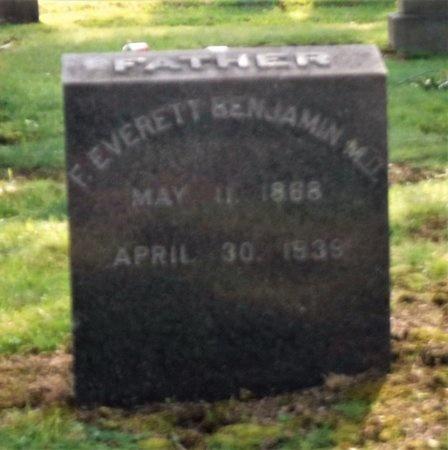 BENJAMIN, F. EVERETT - Suffolk County, New York   F. EVERETT BENJAMIN - New York Gravestone Photos