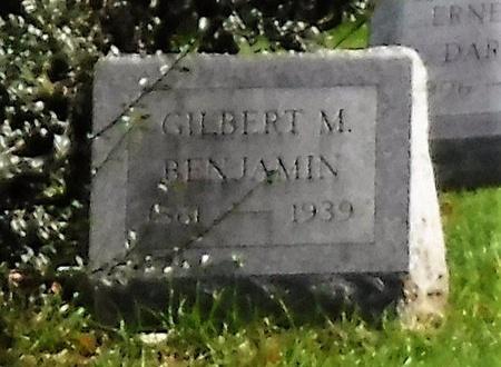 BENJAMIN, GILBERT M - Suffolk County, New York | GILBERT M BENJAMIN - New York Gravestone Photos