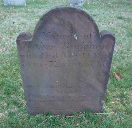 BENJAMIN, NATHAN - Suffolk County, New York | NATHAN BENJAMIN - New York Gravestone Photos