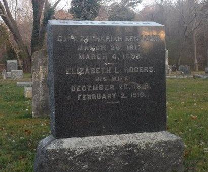 BENJAMIN, ELIZABETH L - Suffolk County, New York | ELIZABETH L BENJAMIN - New York Gravestone Photos