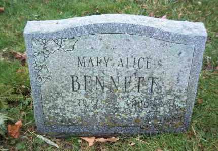 BENNETT, MARY ALICE - Suffolk County, New York | MARY ALICE BENNETT - New York Gravestone Photos