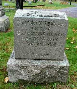 BLACK, HANNAH S. - Suffolk County, New York | HANNAH S. BLACK - New York Gravestone Photos