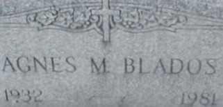 BLADOS, AGNES M. - Suffolk County, New York | AGNES M. BLADOS - New York Gravestone Photos