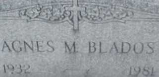 BLADOS, AGNES M. - Suffolk County, New York | AGNES M. BLADOS - New York Gravestone Photos