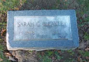 BLEAKLEY, SARAH G. - Suffolk County, New York | SARAH G. BLEAKLEY - New York Gravestone Photos