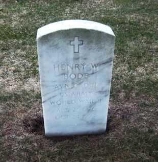 BODE, HENRY W - Suffolk County, New York   HENRY W BODE - New York Gravestone Photos