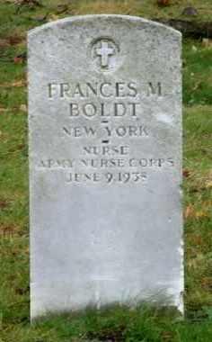 BOLDT (WWI), FRANCES M. - Suffolk County, New York   FRANCES M. BOLDT (WWI) - New York Gravestone Photos