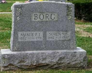 BORG, AMALIE P.L. - Suffolk County, New York | AMALIE P.L. BORG - New York Gravestone Photos