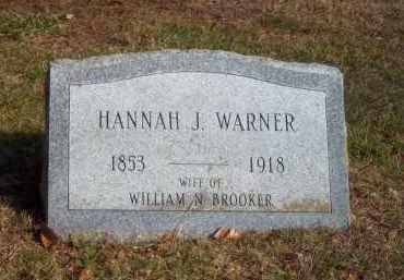 WARNER, HANNAH J - Suffolk County, New York | HANNAH J WARNER - New York Gravestone Photos
