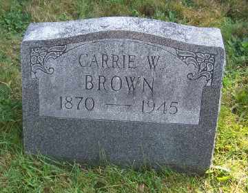 BROWN, CARRIE W - Suffolk County, New York | CARRIE W BROWN - New York Gravestone Photos