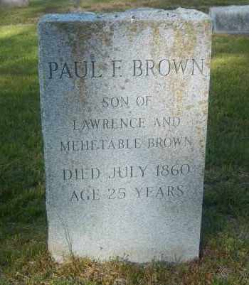 BROWN, PAUL F - Suffolk County, New York | PAUL F BROWN - New York Gravestone Photos