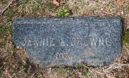 BROWNE, JENNIE L - Suffolk County, New York   JENNIE L BROWNE - New York Gravestone Photos