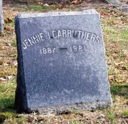 CARRUTHERS, JENNIE J - Suffolk County, New York | JENNIE J CARRUTHERS - New York Gravestone Photos
