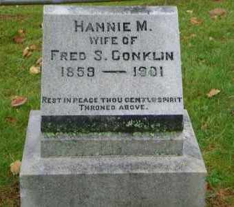 CONKLIN, HANNIE M. - Suffolk County, New York   HANNIE M. CONKLIN - New York Gravestone Photos