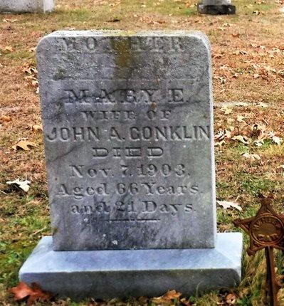 CONKLIN, MARY E - Suffolk County, New York   MARY E CONKLIN - New York Gravestone Photos