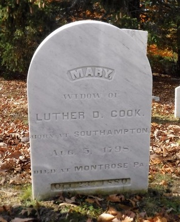 COOK, MARY - Suffolk County, New York | MARY COOK - New York Gravestone Photos