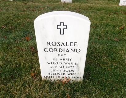 CORDIANO (WWII), ROSALEE - Suffolk County, New York | ROSALEE CORDIANO (WWII) - New York Gravestone Photos