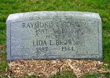 BROWN CORWIN, LIDA L. - Suffolk County, New York | LIDA L. BROWN CORWIN - New York Gravestone Photos