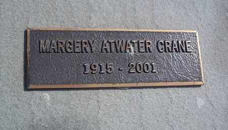 ATWATER CRANE, MARGERY - Suffolk County, New York   MARGERY ATWATER CRANE - New York Gravestone Photos
