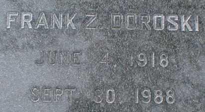 DOROSKI, FRANK Z. - Suffolk County, New York   FRANK Z. DOROSKI - New York Gravestone Photos
