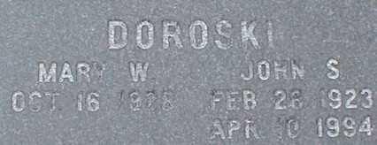 DOROSKI, JOHN S. - Suffolk County, New York | JOHN S. DOROSKI - New York Gravestone Photos