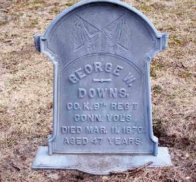 DOWNS, GEORGE W - Suffolk County, New York | GEORGE W DOWNS - New York Gravestone Photos