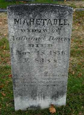 DOWNS, MAHETABLE - Suffolk County, New York   MAHETABLE DOWNS - New York Gravestone Photos