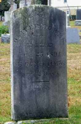 DOWNS, OLIVER - Suffolk County, New York   OLIVER DOWNS - New York Gravestone Photos