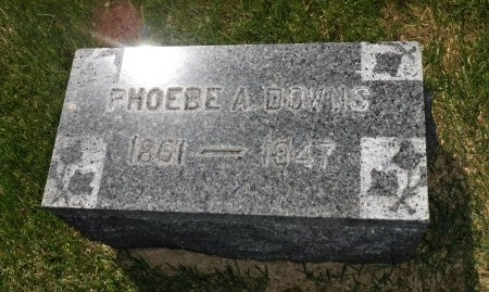 DOWNS, PHOEBE A - Suffolk County, New York | PHOEBE A DOWNS - New York Gravestone Photos