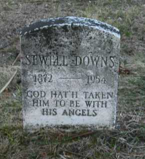DOWNS, SEWELL - Suffolk County, New York | SEWELL DOWNS - New York Gravestone Photos