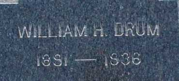 DRUM, WILLIAM H. - Suffolk County, New York | WILLIAM H. DRUM - New York Gravestone Photos