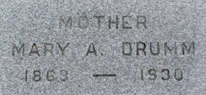 DRUMM, MARY A. - Suffolk County, New York   MARY A. DRUMM - New York Gravestone Photos