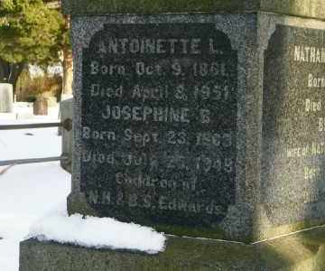 EDWARDS, ANTONINETTE L - Suffolk County, New York | ANTONINETTE L EDWARDS - New York Gravestone Photos