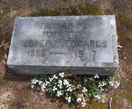 EDWARDS, HANNAH M - Suffolk County, New York | HANNAH M EDWARDS - New York Gravestone Photos