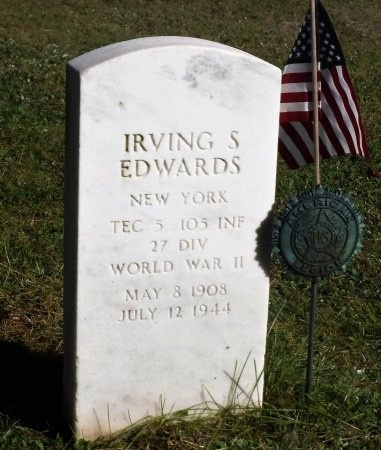 EDWARDS (WWII), IRVING S - Suffolk County, New York | IRVING S EDWARDS (WWII) - New York Gravestone Photos