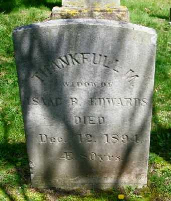 EDWARDS, THANKFULL M - Suffolk County, New York | THANKFULL M EDWARDS - New York Gravestone Photos