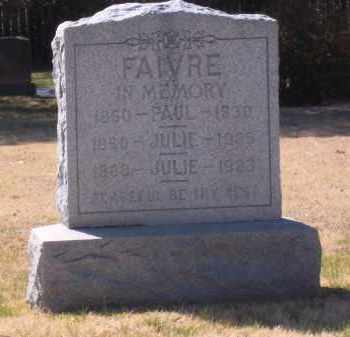 FAIVRE, PAUL - Suffolk County, New York | PAUL FAIVRE - New York Gravestone Photos
