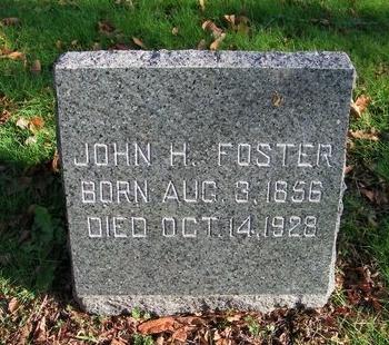 FOSTER, JOHN H - Suffolk County, New York | JOHN H FOSTER - New York Gravestone Photos