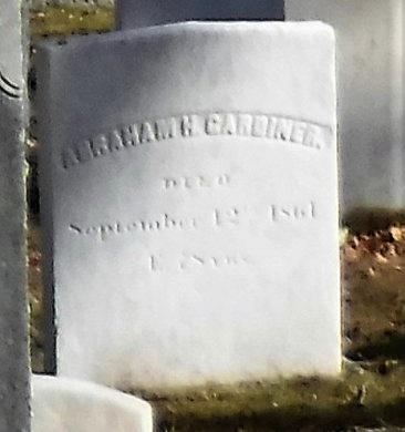 GARDINER, ABRAHAM H - Suffolk County, New York | ABRAHAM H GARDINER - New York Gravestone Photos