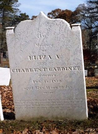 GARDINER, ELIZA A - Suffolk County, New York | ELIZA A GARDINER - New York Gravestone Photos
