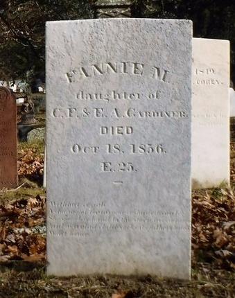 GARDINER, FANNIE M - Suffolk County, New York | FANNIE M GARDINER - New York Gravestone Photos