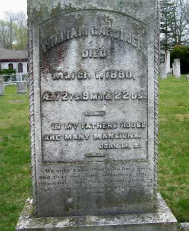 GARDINER, WILLIAM - Suffolk County, New York | WILLIAM GARDINER - New York Gravestone Photos