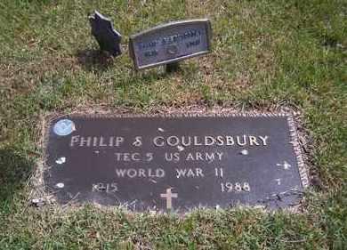 GOULDSBURY, PHILIP S - Suffolk County, New York | PHILIP S GOULDSBURY - New York Gravestone Photos