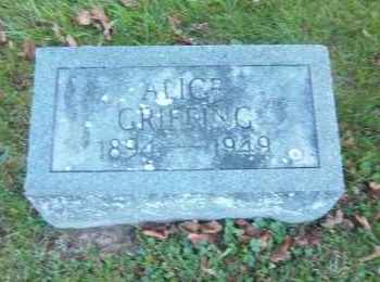 GRIFFING, ALICE - Suffolk County, New York | ALICE GRIFFING - New York Gravestone Photos