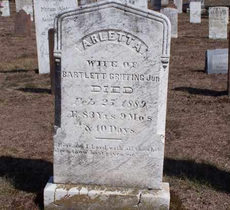 GRIFFING, ARLETTA - Suffolk County, New York | ARLETTA GRIFFING - New York Gravestone Photos